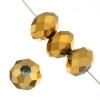 Ori Crystal (Chinese Donut) 6X8mm Metallic Gold